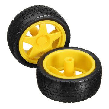 2Pcs Smart Robot Car Tyres Wheels For Arduino TT Gear Motor Chassis