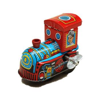 Vintage Wind Up Tin Toy Clockwork Spring LocomotivE Classic Toy