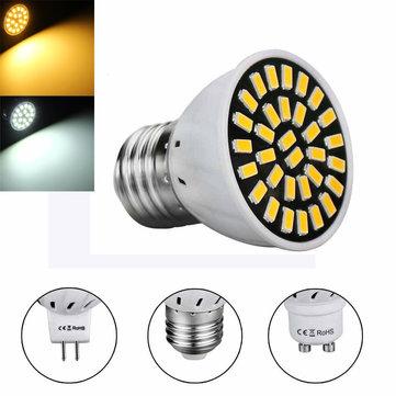 MR16 E27 GU10 LED Light Bulbs 5733 SMD 18 320LM Pure White Warm White Spot Lightt AC220V 3W