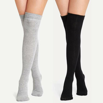 Plain Over The Knee Socks for sale in Litecoin with Fast and Free Shipping on Gipsybee.com