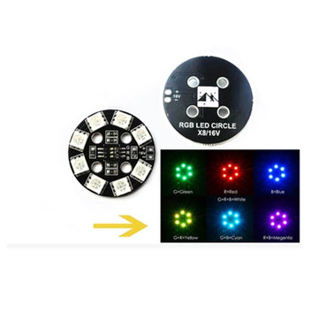 Matek RGB LED Circle Board 7-colors X8 16V For FPV RC Multicopter