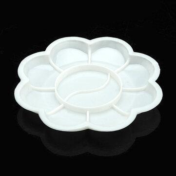 सफेद ऐक्रेलिक रंग मिक्सिंग पेंट ड्रा नेल आर्ट डिज़ाइन पैलेट डिश