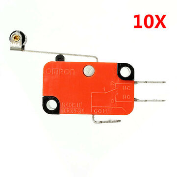 Wendao V-156-1C25  Micro Switch Long Hinge Roller Lever Stroke Limit Switches 10pcs