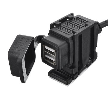 Europe Standard Car Motorcycle 12V-24V 2.1A Dual USB Charger Adaptor
