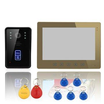 "ENNIO SY1001A-MJID11 10"" RFID Video Door Phone Intercom Doorbell Touch Button Remote Unlock Camera"