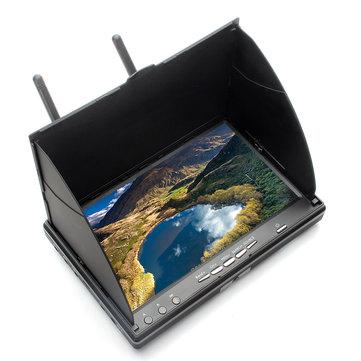 Eachine LCD5802S 5802 40CH Raceband 5.8G de 7 Pouces Récepteur avec Divertisité Moniteur avec la Batterie Intégrée