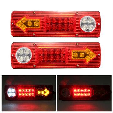 2x12V LED Trailer Truck Belakang Tail Brake Berhenti Turn Lampu Indikator Reverse Lamp