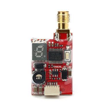 Eachine TS5828L Micro 5.8G 600mW 40CH Mini FPV Transmitter VTX with Digital Display For RC Drone