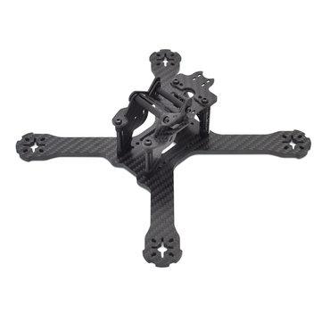 Realacc X210 Pro 214mm 3K Carbon Fiber FPV Racing Frame 4mm Frame Arm w/ LED Board 5V & 12V PDB