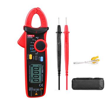 UNI-T UT210D Medidor Digital de Medición de Temperatura Abrazadera Capacitancia de Rango Automático Multímetro Medidores de Resistencia de Voltaje de Corriente AC / DC