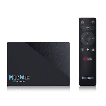 H96 MAX RK3566 SDRAM 8GB DDR3 64GB eMMC ROM Android 11.0 8K UHD TV Box bluetooth 4.0 5G Wifi 1000M LAN H.265 VP9 4K Decoder Voice Control OTT Box Support Youtube 4K Netflix HD