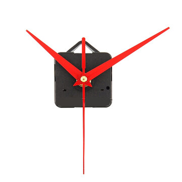 DIY Red Triangle Hands Quartz Wall Clock Movement Mechanism