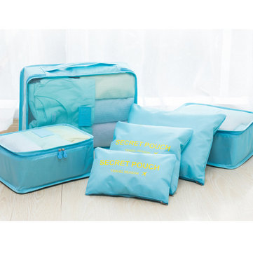 6Pcs Waterproof Cube Travel Storage Bags Clothes Pouch Nylon Luggage Organizer Travel