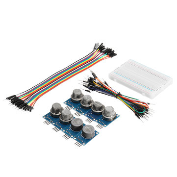 9Pcs MQ Gas Sensor Module With Breadboard Jumper Wire For Arduino With Carton Box Package