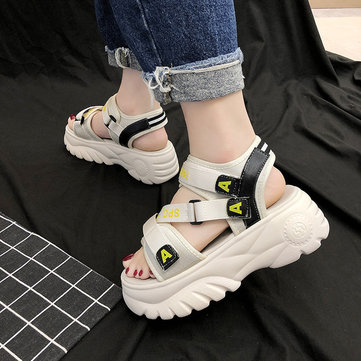 Sports Sandals Women's New Season Increased Net Red Ultra Fashion Wild Thick Bottom Cake Women's Shoes Ins Tide