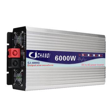 Bộ biến đổi sóng sin tinh khiết năng lượng mặt trời thông minh 12V / 24V đến 110 V 3000W / 4000W / 5000W / 6000W Bộ chuyển đổi điện