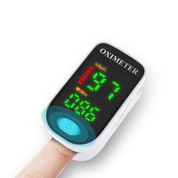 Finger Clip Pulse Oximeter Portable Blood Oximeter Color Screen Finger Clip Blood Oxygen Saturation Detector Health Care Supply