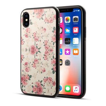 Bakeey Utskrift Blomst Ikke-glatt Hard PC TPU Beskyttelsesveske til iPhone X/7/8 Plus