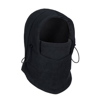 Fleece Two-sided Skiing Riding Caps CS Hats Face Mask Black Gray