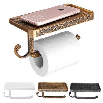 AU Vægmonteret Toiletrulle Tissue Papirhylde Holder Stand Telefon Hylde Badepapirpapir
