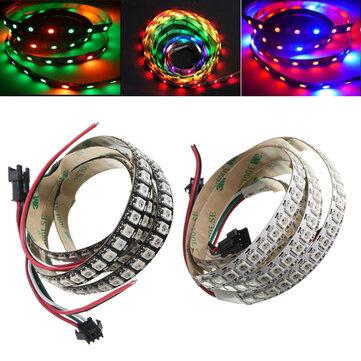 1M WS2812B 5050 RGB Dải đèn LED có thể thay đổi 144 Đèn led Không thấm nước Cá nhân Địa chỉ 5V