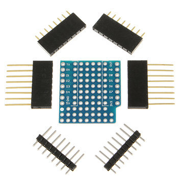 3Pcs WeMos® ProtoBoard Shield For WeMos D1 Mini Double Sided Perf Board Compatible