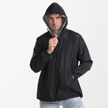 Ordinary Protective Clothing Isolation Suit Hooded with Face Mask Breathable Lightweight Dustproof Clothing