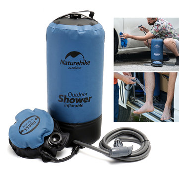 Naturehike 11L PVC Outdoor Inflatable Shower Bathing Bag Portable Folding Camping Water Storage