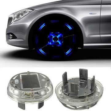 Năng lượng mặt trời LED Xe bánh xe Vành lốp Flash Đèn trang trí ánh sáng 4 Flashing Chế độ