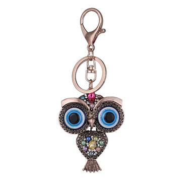 Buy Vintage Owl Rhinestones Keychain Rings Holder Purse Bag Buckle Pendant Car Keyrings KeyChains with Litecoins with Free Shipping on Gipsybee.com