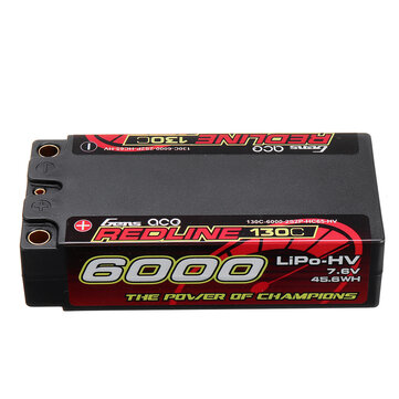 Gens ace REDLINE 7.6V 6000mAh 130C 2S Lipo Battery for RC Racing Drone