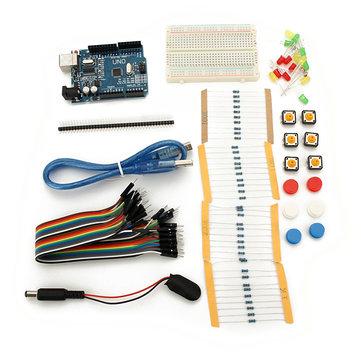 UNO R3 With Mini Breadboard LED Jumper Resistor Kit For Basic Starter