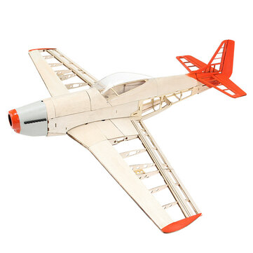 The New Eight-generation P51 Mustang 1000mm  Wingspan Light Wood Model Fixed-wing Fighter RC Airplane KIT