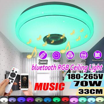 33CM 70W bluetooth Smart LED Ceiling Light Music Speaker Remote Control APP Control RGBW Color Lamp AC180-265V