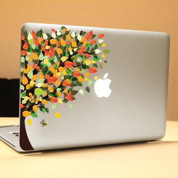 PAG Rainbow Tree Dekorativ Laptop Dekal Removable Bubble Free Selvklebende Partial Color Skin