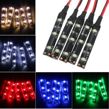 5PCS 3528 SMD Red Green Blue Yellow White 3LED Strip Light IP65 DC 12V Car Lamp