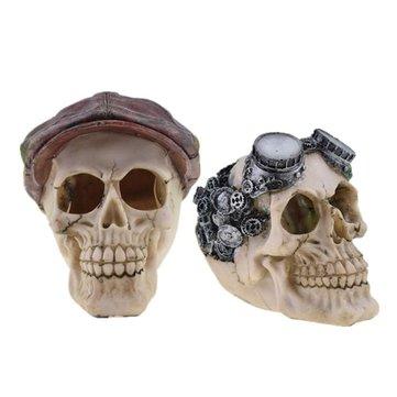 Halloween Sành điệu Trang trí Kinh dị Đồ chơi Mới lạ Con người Prop Nhựa Sọ Đầu Trang trí DIY Trang trí Tiệc