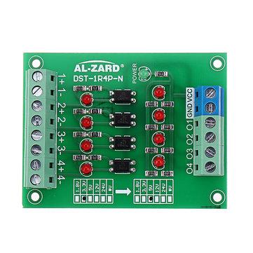3.3V To 5V/12V/24V 4 Channel Optocoupler Isolation Board Isolated Module PNP Output PLC Signal Level Voltage Converter