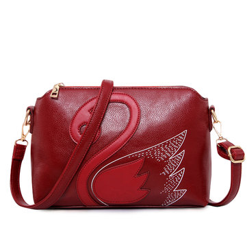 Women Swan Shoulder Bags Vintage Chinese Style Shell Crossbody Bags Girls Animal Bags