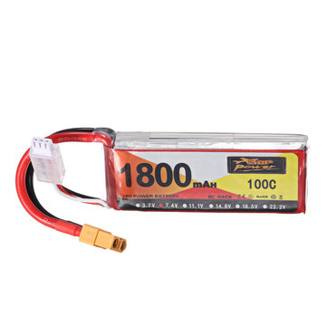 ZOP Power 7.4V 1800mAh 100C 2S Lipo Battery XT60 Plug for RC Racing Drone