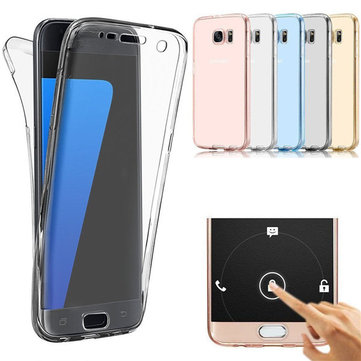 info for f6374 36038 360° Front And Back Protective TPU Clear Case Cover For Samsung Galaxy S7  Edge