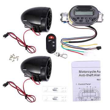 FEYCH Motorcycle Audio Anti Theft Alarm Guard With FM Radio MP3 Player And USB Mobile Charge