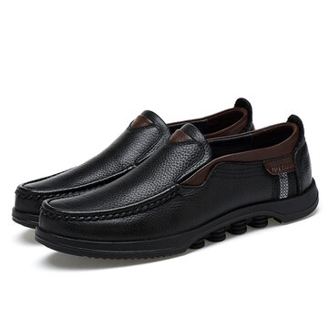 Menico Big Size Casual Soft Slip On Leather Flats