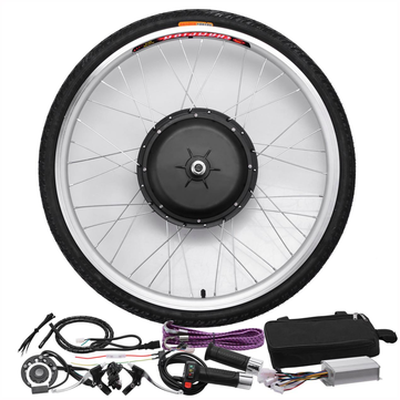 Bikight 48V 1000W 26 Inches Electric Bicycle Modification Kits Driving Motor Bike Front Wheel Controller