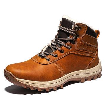 पुरुष आरामदायक गर्म ऊन अस्तर रेट्रो एंकल जूते