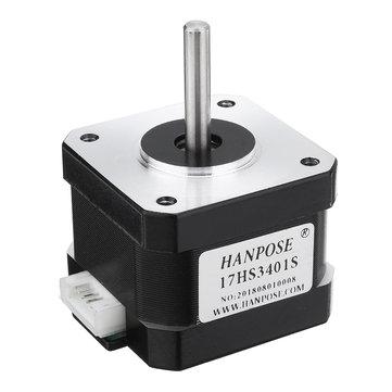 HANPOSE 17HS3401-S 34mm Nema 17 Stepper Motor 42 Motor 42BYGH 1.3A 28N.cm 4-lead CNC Laser 3D printer