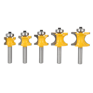 8mm Shank Round Over Router Bit 1/4 to 5/8 Inch Woodworking Edging Router Chisel Groove Cutter