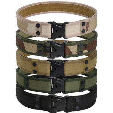 130CM Mens Military Durable Canvas Belt Army Outdoor Tactical Combat Belt
