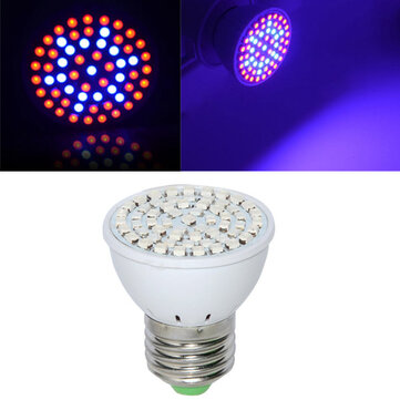 Full Spectrum E27 3W 60 LED Grow Light 41 Red 19 Blue For Plant Hydroponics AC220V
