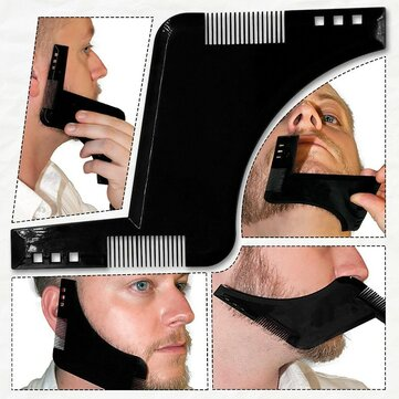 Beard Grooming Shaping Comb for Shaving Symmetric Beards Shaper Styling Template Kit Guide